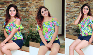 Nishi Samaraweera Shows Off Her Hot Legs in a Sexy Short