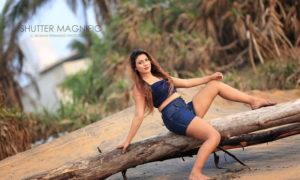 Hashini Withanaarachchi Beach Photo Shoot