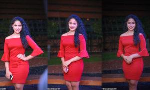 Sandani Fernando Hot In Red Dress