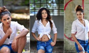 Samalka Madushani Hot Denim Shorts