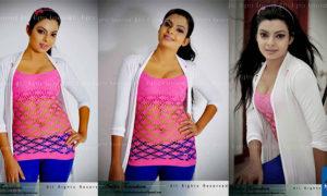 Abhisheka Wimalaweera Hot in Pink Top and Blue Pants
