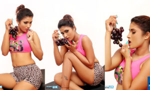 Adisha Shehani Poses With Grapes