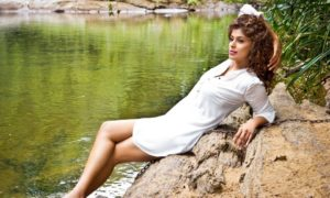 Aishara Athukorala Hot White Dress Photo Shoot