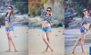 Anushka Niranjali Hot In Tights Shorts