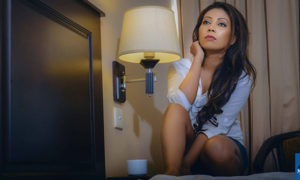 Anushka Niranjali Poses On The Bed