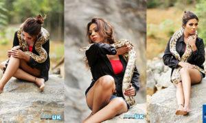 Anushka Niranjali Poses With A Python
