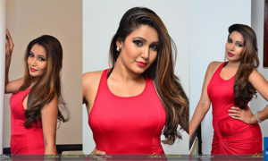 Ashiya Dassanayake Hot Photoshoot In Red Dress