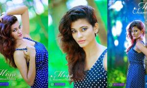 Chamathka Lakmini Sizzles In Blue Hot Dress