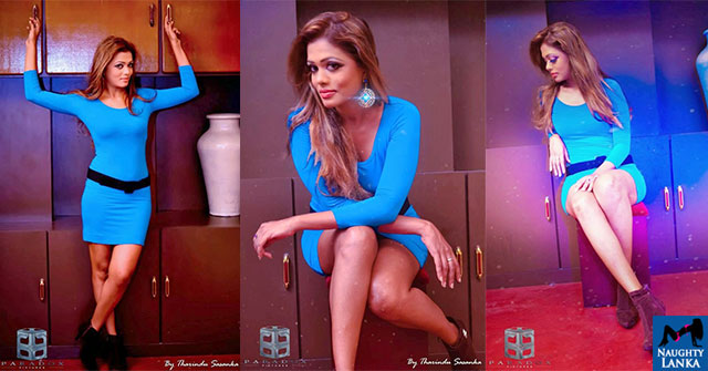 Chandi Anupama Hot Sexy Blue Dress