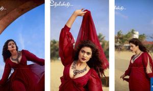Chulakshi Ranathunga Hot Pics In Red Dress