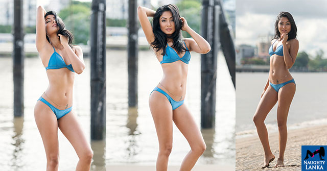 Darni Alweera Blue Bikini Photo Shoot