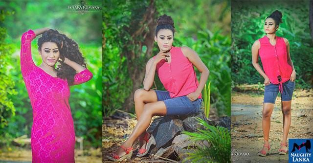 Deeshani Nadeenika Hot In Tights Dress Photos
