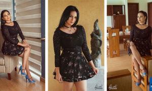 Deshii Senadhira Sizzles In Black Hot Dress