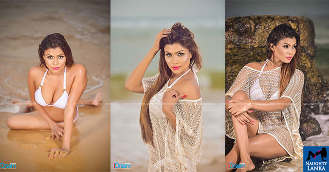 Dilini Aththanayake Hot White Bikini Photoshoot