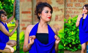 Disala Sasmini Samaraweera Blue Dress Hot Photos