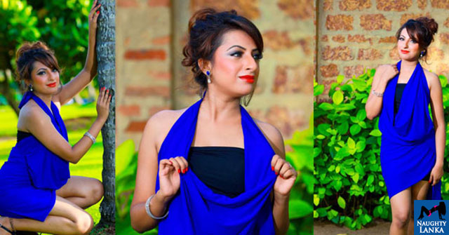Disala Sasmini Samaraweera Blue Dress Hot Photos