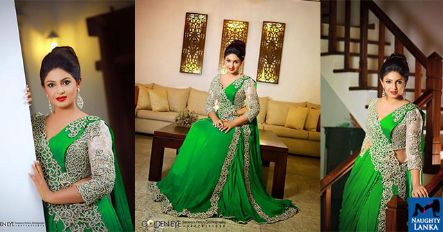 Dulani Anuradha In Gorgeous Green Saree