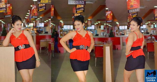 Gayathri Kanchanamali Hot Photos In Red Mini Dress