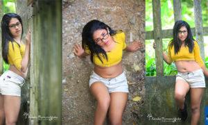 Harshi Aysha Hot In Tight Mini Shorts