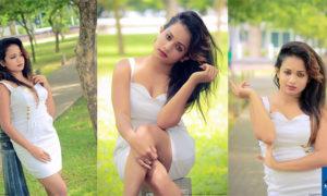 Hasha Rekshini Hot Photos In White Tight Dress