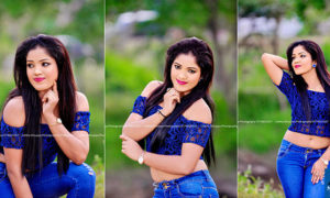 Malsha Salani Jayawardana Hot In Blue Top and Denim