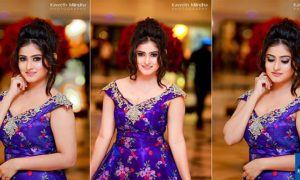Maneesha Chanchala Looks Gorgeous In The Purple Dress