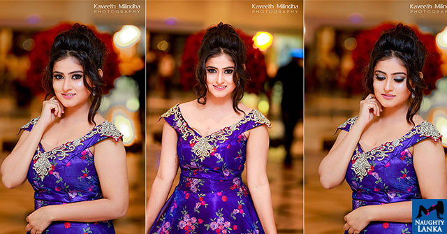 Maneesha Chanchala Looks Gorgeous In The Purple Dress