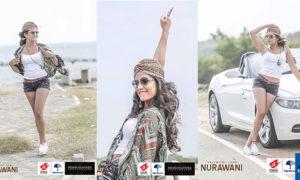Oshadi Himasha Goes For A Ride In Hot Denim Shorts