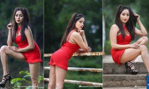 Piumi Srinayaka Flaunts Her Toned Legs