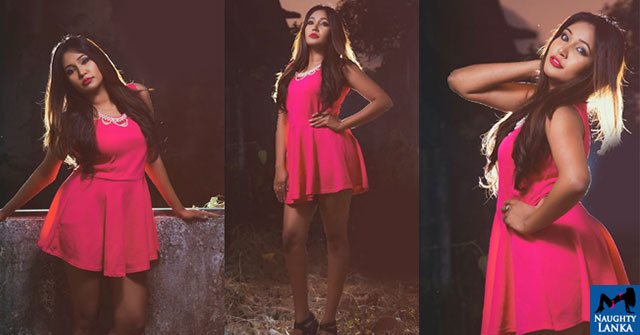 Ashiya Dissanayake Looks Hot In Pink Mini Dress