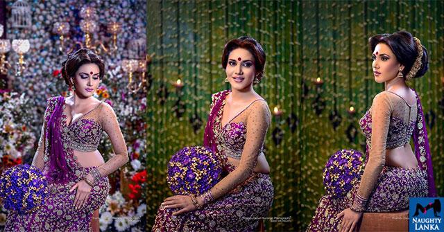 Dananji Tharuka Kaluarachchi Lovely Purple Saree