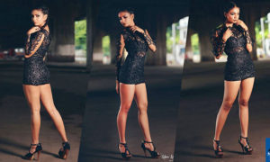 Heshari Maheshi Hot In Black Dress