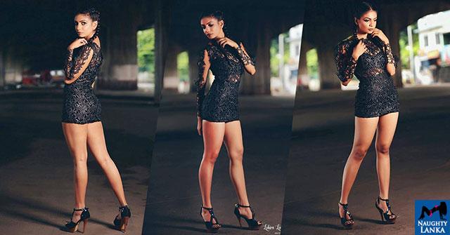Heshari Maheshi Hot In Black Dress