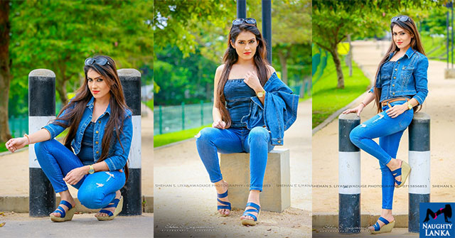 Himaya Bandara Poses In A Denim Outfit