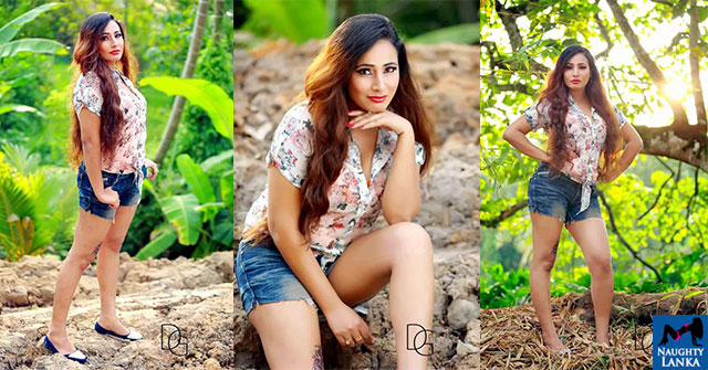 Isha Erandi Hot Denim Shorts