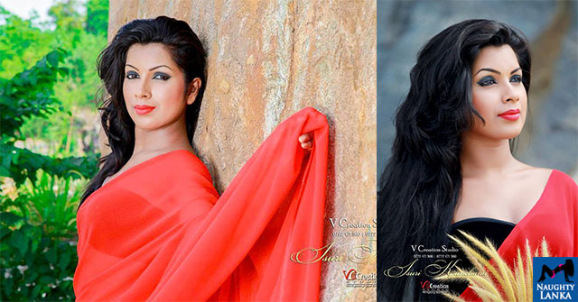 Isuri Kanchana Hot Saree Fashions