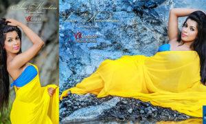 Isuri Kanchana In Hot Yellow Saree