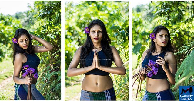 Nadhu Weerasiri Flaunts Her Hot Navel