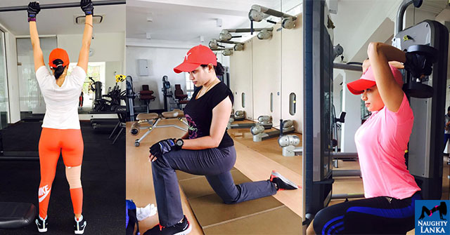 Janaki Wijerathne Hot Gym Workout Photos
