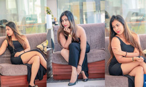 Jayani Alahapperuma Look Hot In Black Dress