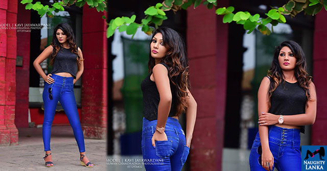 Kavi Jayawardane Hot Photoshoot In Tight Jeans