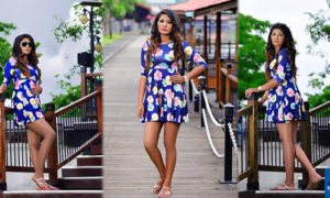 Kavi Jayawardane In Short Sexy Dress