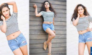 Kavindya Mathota Arachchi Hot Legs In Mini Denim Skirt