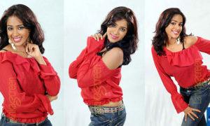 Kishani Alanki Perera In Her Sexy Red Shirt