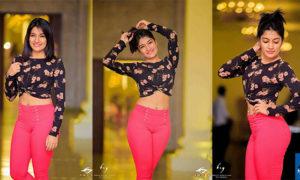 Saara Abeywardane In Tight Pink Pants