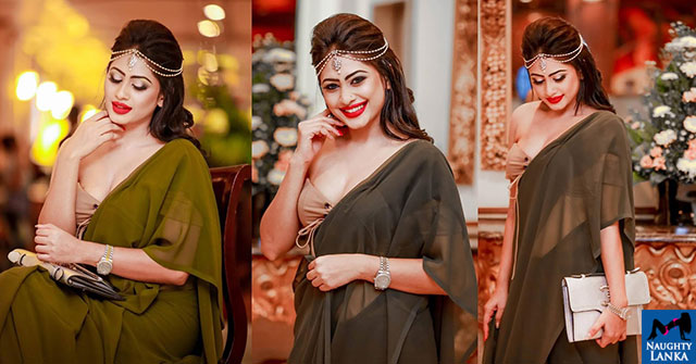 Piumi Hansamali Looks Gorgeous In This Green Saree