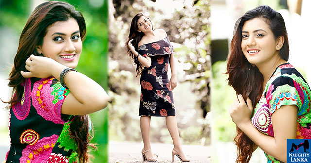 Shanudrie Priyasad Poses In A Colorful Dress