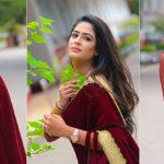 Maheshi Madushanka Massive Saree Cleavage Show