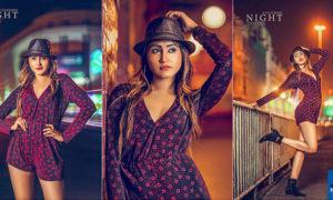 Yunika Dilki Mendis Colombo Night Photoshoot