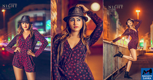 Yunika Dilki Mendis Colombo Night Photoshoot